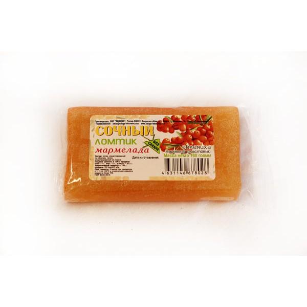 Мармелад Сочный ломтик Облепиха без сахара, 180 гр