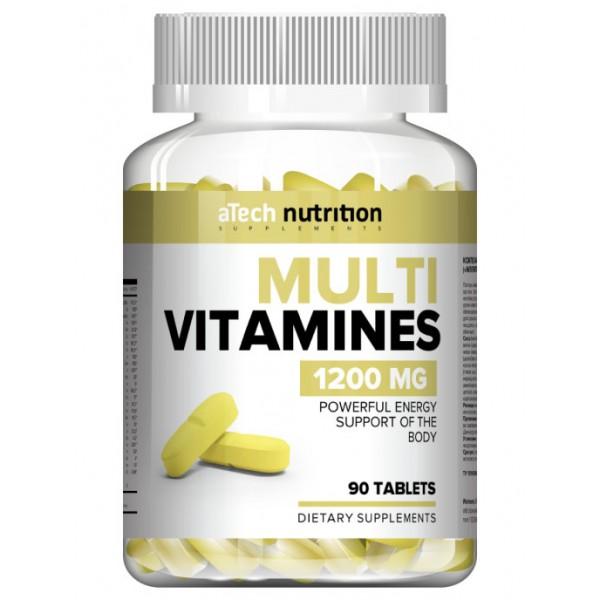 """Витаминно-минеральный комплекс """"MULTIVITAMINES"""", 1200 мг,  60 табл. aTech nutrition"""