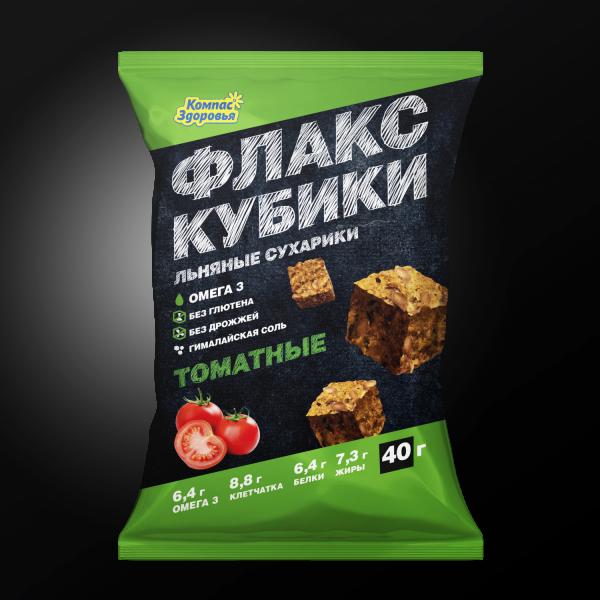 Флакс-кубики с томатом, 40г