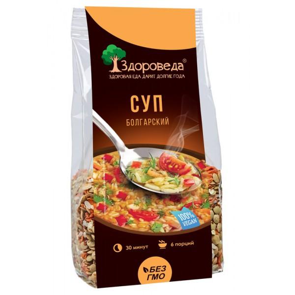 Суп болгарский с зеленой чечевицей, помидорами и сельдереем, 250 гр
