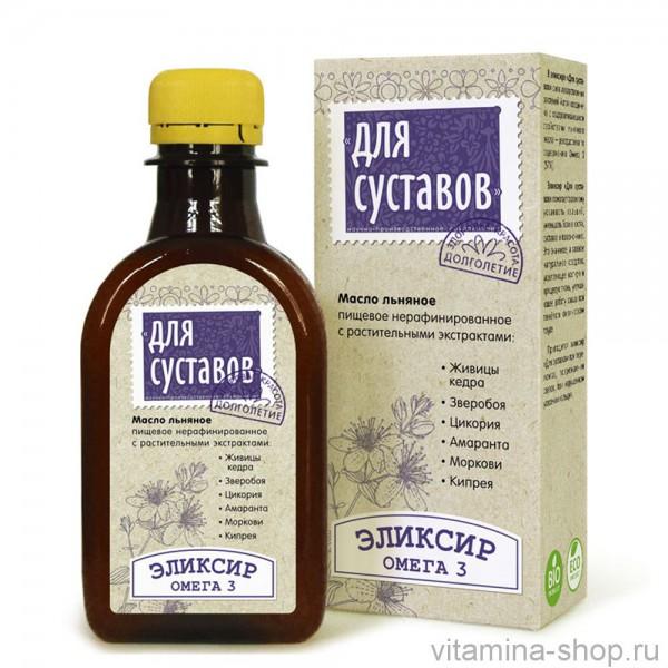 Масло льняное Эликсир «Для суставов»