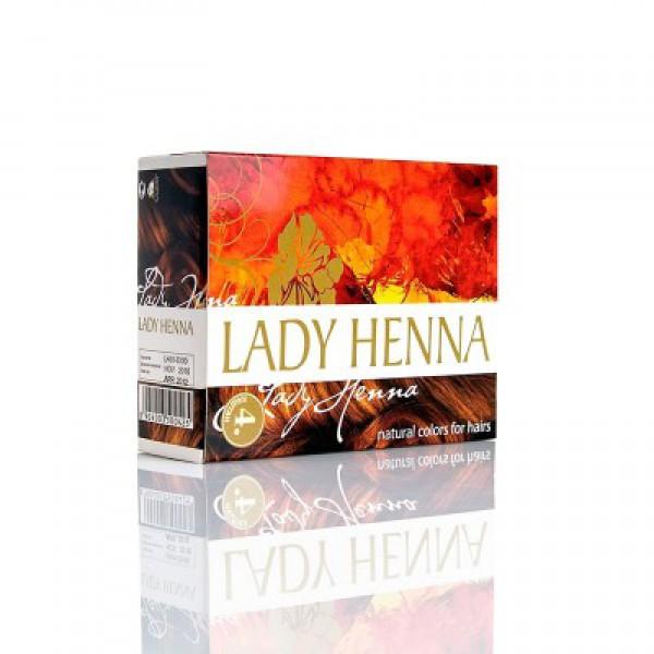 Травяная краска на основе хны для волос-КАШТАН- LADY HENNA, 10гр
