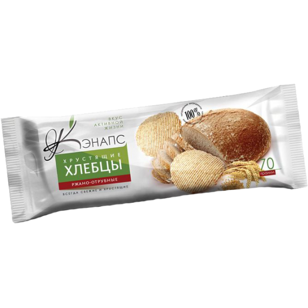 """Хлебцы хрустящие """"Ржано-отрубные"""" 70гр"""