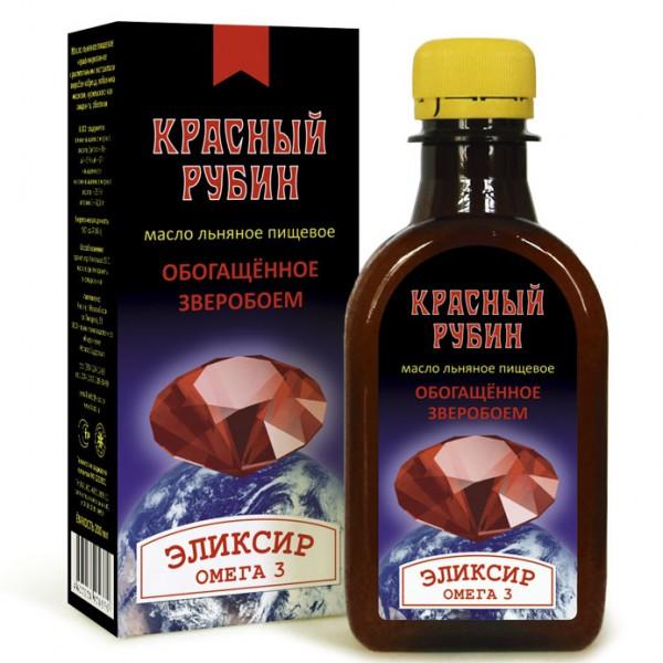 """Масло льняное """"Красный рубин"""" 0,2л"""