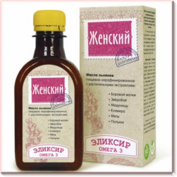 """Масло льняное """"Женский эликсир"""" 0,2л"""