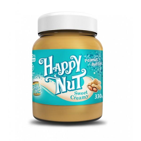 Паста арахисовая сладкая Happy Nut Sweet Creamy 330г.