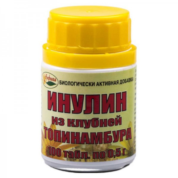 Инулин из клубней топинамбура 100 таб. по 0,5 гр