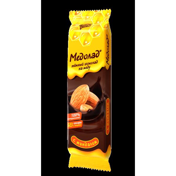 "Шоколад темный ""Медолад"" с миндалем, 50г."