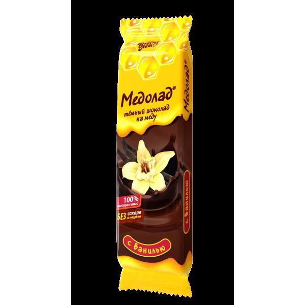 """Шоколад темный """"Медолад"""" с ванилью, 50г."""