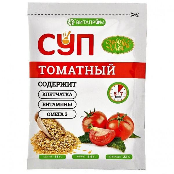 """Суп сухой """"Золотой Лён"""", Томатный 20 гр*7 шт"""